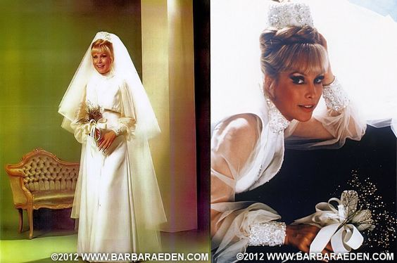 """Barbara's """"I Dream of Jeannie"""" wedding gown created by the ..."""