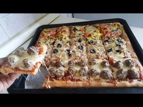 أسهل بيتزا عائلية بعجين ناجحة اقتصادية بدون حليب او ياغورت و 3 حشوات لإرضاء جميع أفراد العائلة Youtube Cooking Vegetable Pizza Food