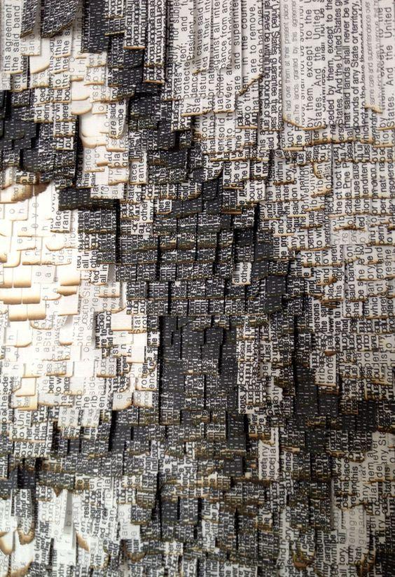 nathalie boutté   Natives  2014 Papier japonnais, encre 100 x 140 cm  Collection privée