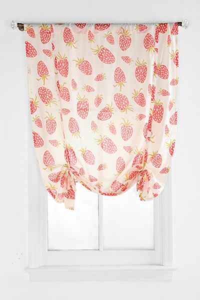 Sweet strawberry print curtains.  Maybe when we have another baby if its a girl we'll have a strawberry nursery!