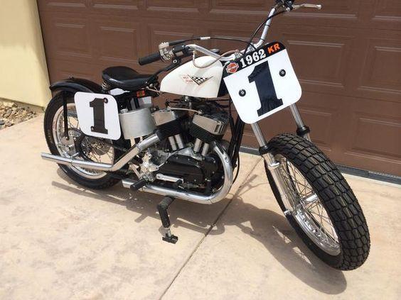 1962 Harley Davidson Kr750 Flat Track Racer Engine No 62kr2065 Kr 750 Pinterest Flats