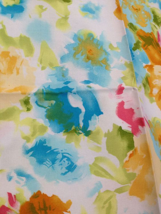Bright & Beautiful Watercolor Flower Garden Fabric - 1 Fat Quarter. $3.00, via Etsy.  #crafttuts+ #crafttutorials