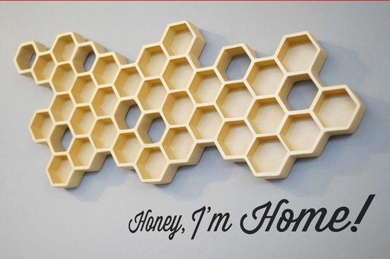 Iconic 50's Phrase 'Honey I'm Home!' Inspired This Adorable Key Holder | athenna-design | Web Design | Design de Comunicação Em Foz do Iguaçu | Web Marketing | Paraná