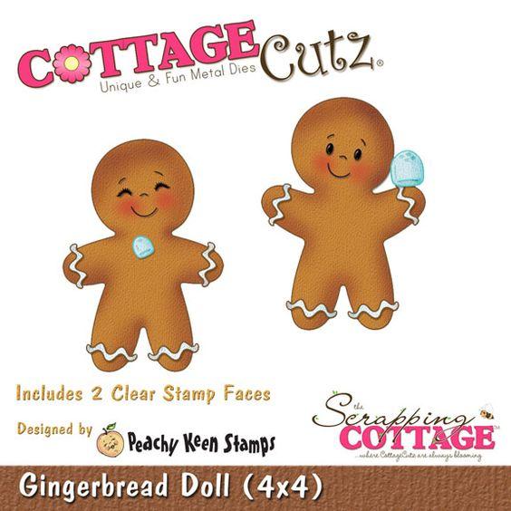 CottageCutz Gingerbread Doll (4x4 Peachy Keen Design)