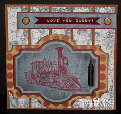 'I Love You Daddy! - A Grungy Fancy Fold Card by Leigh S-B