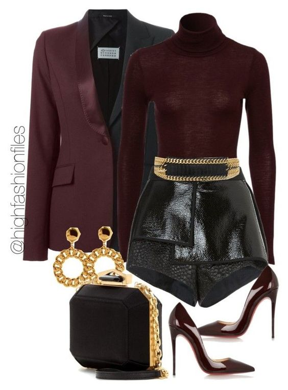 """Switching Up"" by highfashionfiles on Polyvore featuring Maison Margiela, E L L E R Y, Balmain, Christian Louboutin, Moschino and Alexander McQueen"