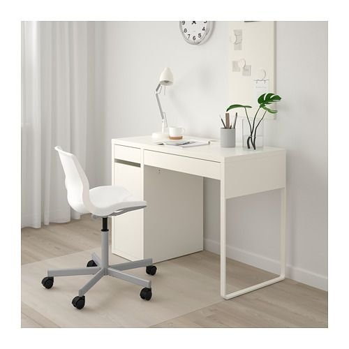 Micke Desk Black Brown 105x50 Cm Order Today Ikea Micke Desk Ikea White Desk White Desk Bedroom