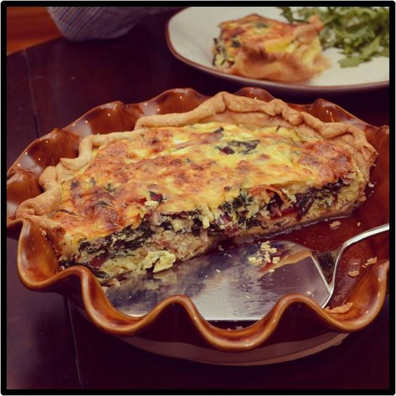 Chard & Pancetta Quiche | Home Sweet Home Cookin' | Pinterest | Quich...