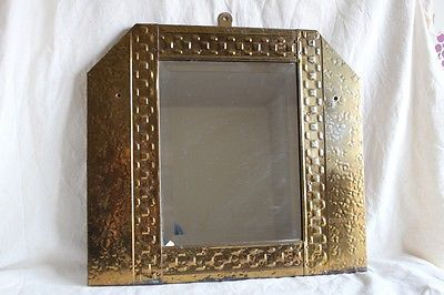 "Vintage arts & crafts bevelled #edged glass wall #mirror #brass 15"" l,  View more on the LINK: 	http://www.zeppy.io/product/gb/2/161891774669/"