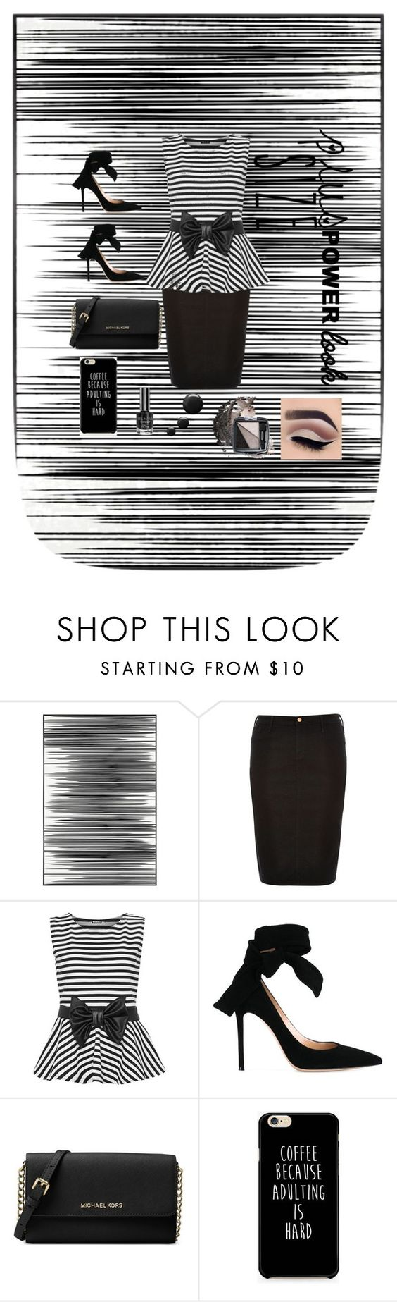 """Plus Size can be #Powerfull"" by nabillajonathan ❤ liked on Polyvore featuring Art Addiction, River Island, WearAll, Gianvito Rossi, Michael Kors, Avon and powerlook"