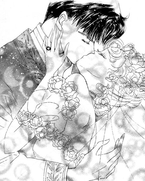 "Usagi & Mamoru wedding from ""Sailor Moon"" series by manga artist Naoko Takeuchi."
