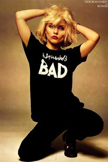 Debbie Harry in Andy Warhol's Bad t-shirt. Blondie.: