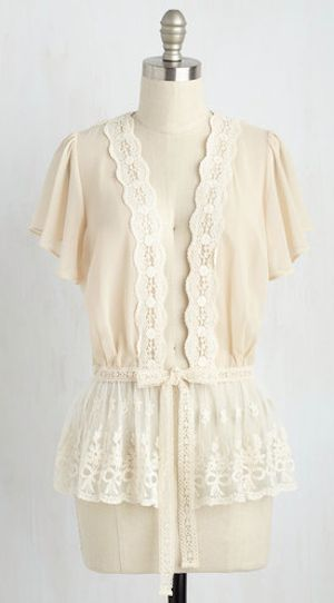 pretty lace cardigan