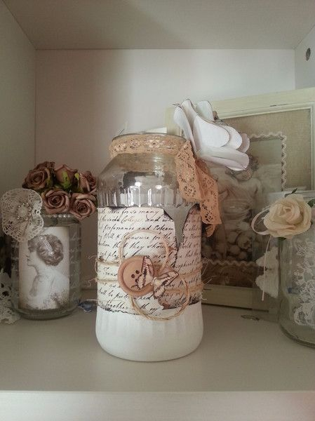 shabby chic teelicht windlicht vase deko von atelier s giannetti auf shabby chic. Black Bedroom Furniture Sets. Home Design Ideas