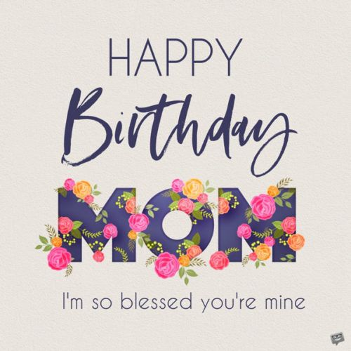 Best Mom in the World | Happy birthday mom images, Birthday ...