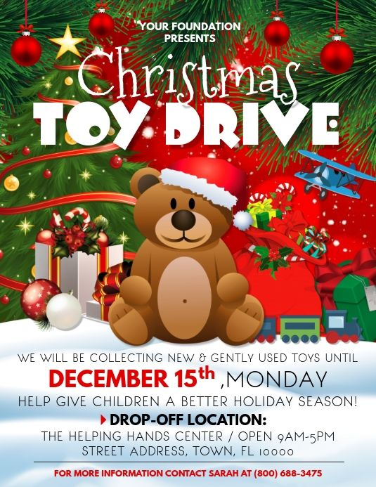 Donate A Christmas Toy 2020 Toy Drive in 2020 | Christmas toy drive flyer, Christmas toy drive