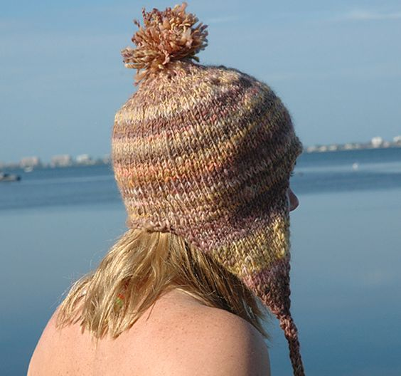 Knitting Pattern Hat Ear Flaps : bulky hat with ear flaps knitting pattern Stitch, Knit, Sew, Weave, Fiber &...