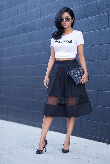 20 Looks with Pretty Midi Skirts | Midi Skirts and Skirts