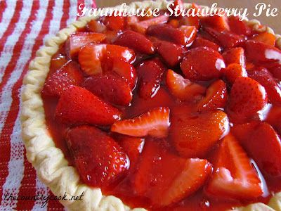 Farmhouse Strawberry Pie: Strawberry Pie Recipes, Country Cooking Recipes, Sweet Treats, My Pie, Desserts Pies, Favorite Recipe, Recipes Pies