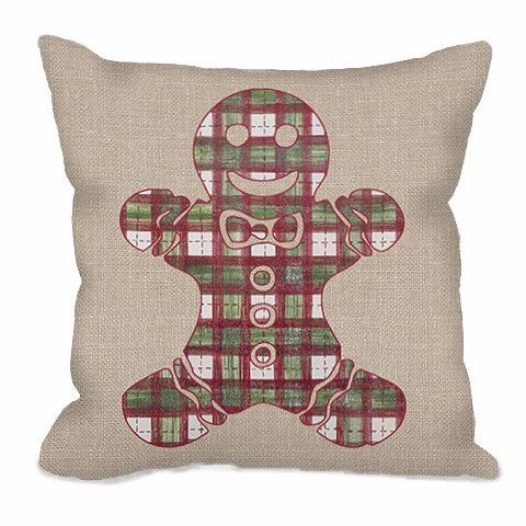 Gingerbread Decorative Pillows : Plaid, Gingerbread man and Throw pillows on Pinterest