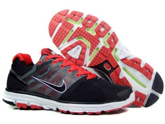 Mens Nike Lunarglide 2 Black Red Shoes