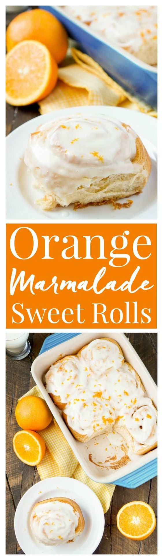 These Orange Marmalade Cream Cheese Sweet Rolls are a quick and easy ...