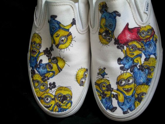 Despicable Me Minion Customized Vans Sneakers by MeganCobain, $85.00: Favorite Minions, Vans Shoes, Custom Shoes, Minion Shoesies, Minions Vans, Minions Shoes, Costume Shoes