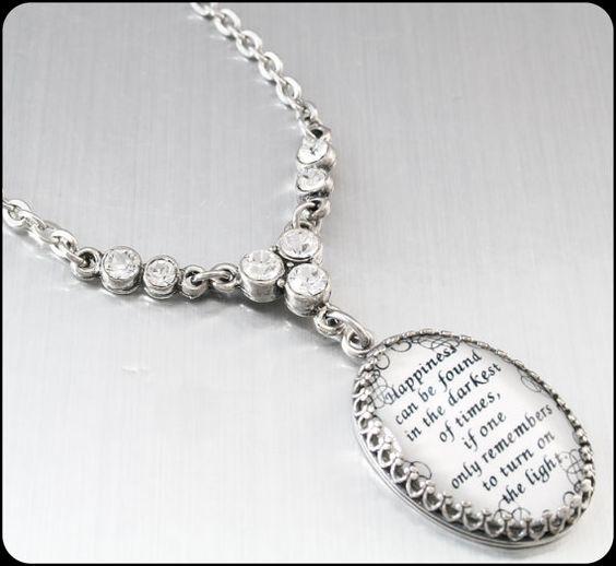 Inspirational Jewelry, Quote Pendant, Quote Necklace, Inspirational Quote Jewelry, Quotation Necklace, Inspiration Jewelry  by BlackberryDesigns, $38.00