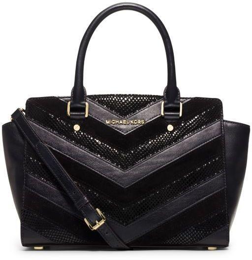 Puros de Hostos   michael kors selma chevron handbag wallet white ebay c8c258fe1a