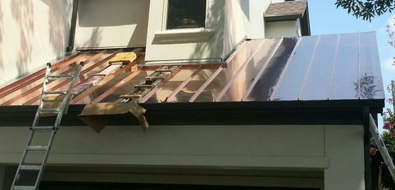 Copper Roofing Houston Tx Texas Elite Roofing Copper Roof Roofing Standing Seam