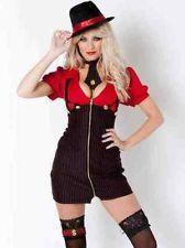 Valentine Ann Summers Miss Mafia Gangster Womens Fancy Dress Costume size 14
