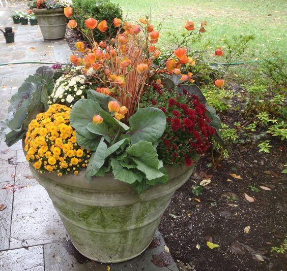 fall flower pot fall pinterest fall flowers flower