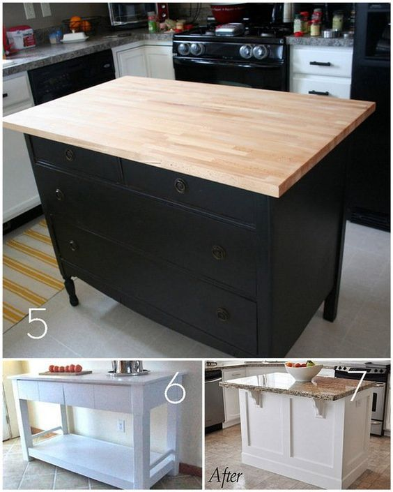 Build Kitchen Island Table: Roundup: 12 DIY Kitchen Tables, Islands, And Cupboards You