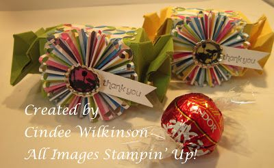 Cindee made her lindor chocolate holders from the candy wrapper cindee made her lindor chocolate holders from the candy wrapper die they are super cute decorated with rosettes and soda pop tops pinterest negle Images