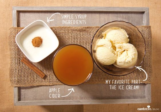 Try this Spiked Apple Cider Float with #Sauza Blue Reposado Tequila! #fall #yum