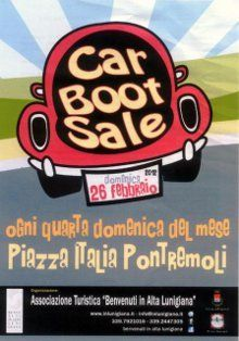 Car boot sale in Pontremoli every 4th Sunday of the month