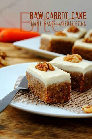 Raw Carrot Cake Slices