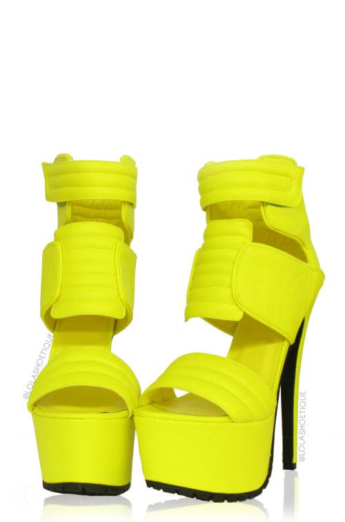 MELROSE – Neon Yellow PLATFORM HEEL  Shoes  Pinterest  Neon
