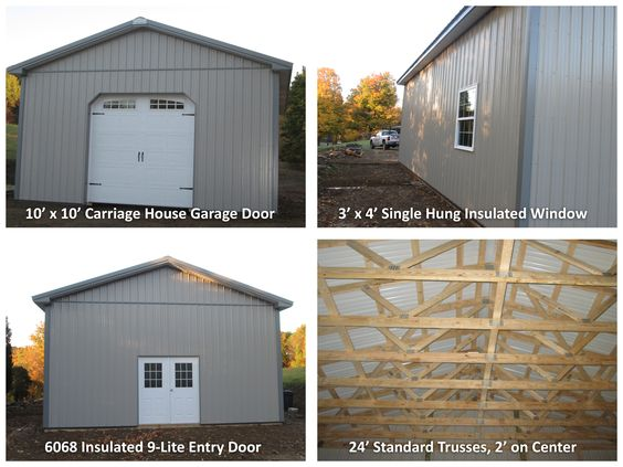 Check out this 24 39 w x 32 39 l x 12 39 h garage 10 39 x 10 for 10 x 9 garage door