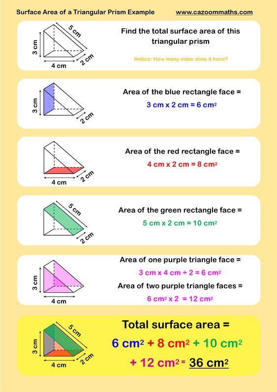 Surface area worksheets grade 6
