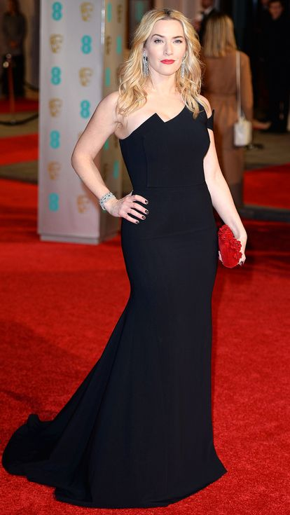 BAFTAs 2016: All the Gorgeous Gowns | People - Kate Winslet in a black strapless dress