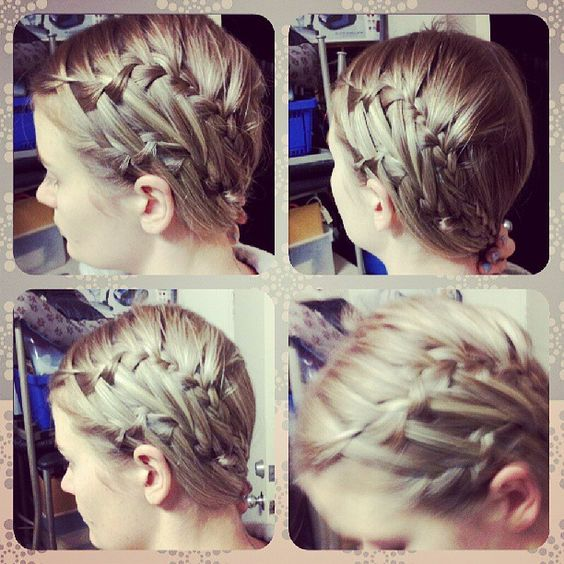 DIY two waterfall braids connected