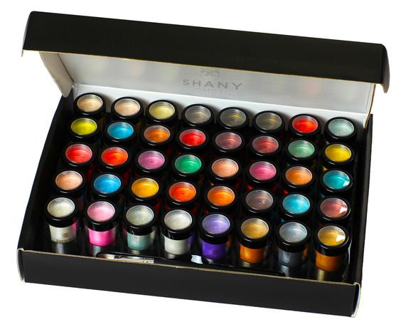 Loose Mineral Glitter and Pearl Eyeshadow Set - Set of 40 Colors