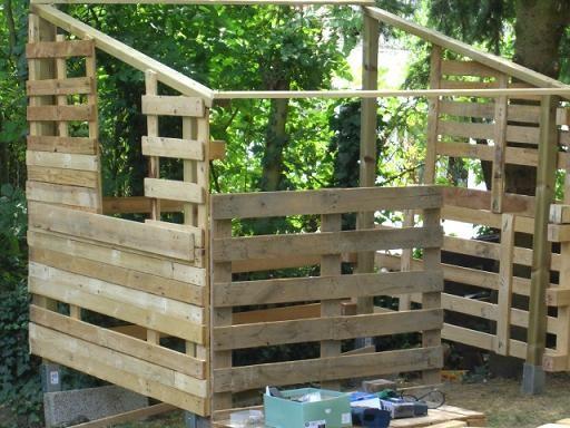 Cabane pour enfant faire avec des palettes cabanes jeux ext rieur pint - Construction avec des palettes ...
