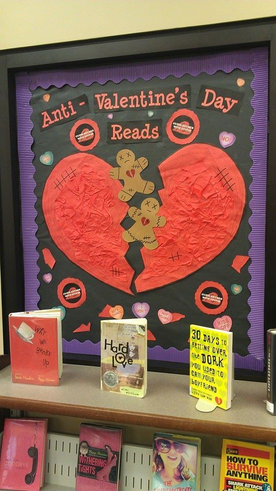 Anti Valentine's Day Library Display