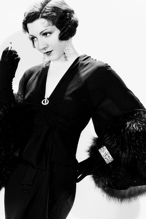 Smoking & Elegantly Dressed...Claudette Colbert, 1922: