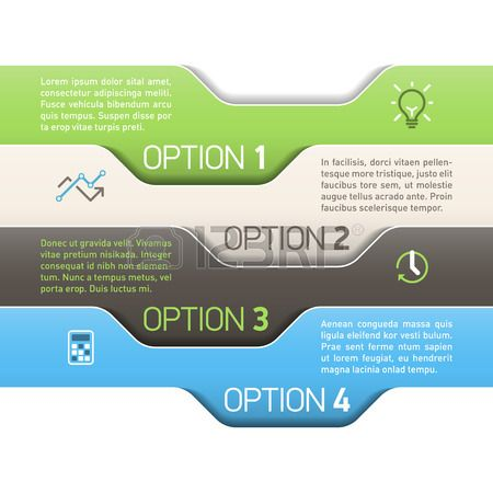 Infographics option design template photo