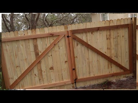 How To Build A Gate For A Wooden Fence Youtube Building A Wooden Gate Building A Gate Building A Fence Gate