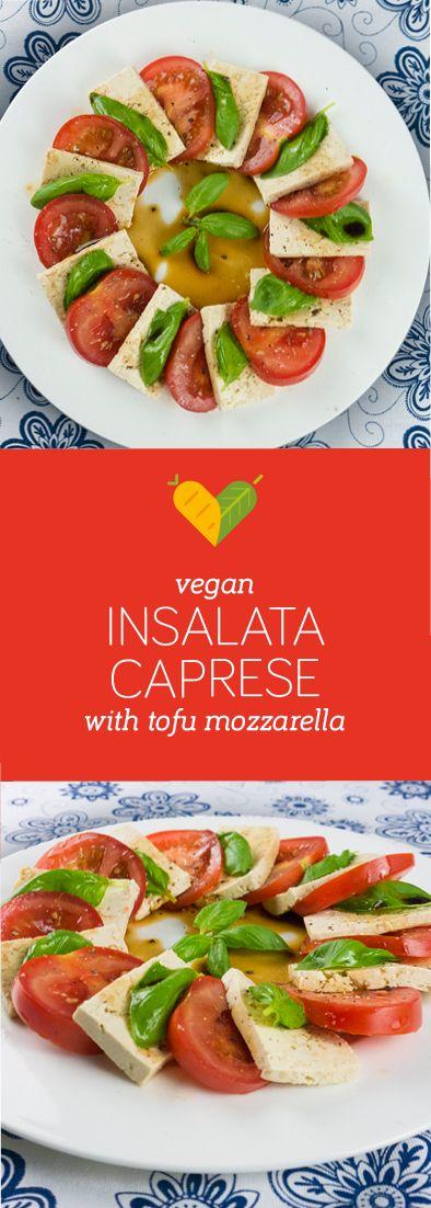 This is my vegan version of the popular summer classic. Tomatoes, vegan tofu…