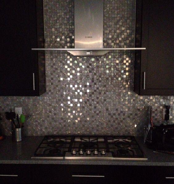 Black Kitchen Cabinets Backsplash: Backsplash Black Cabinets